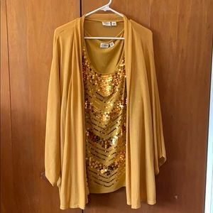 Cato. NWOT. BLOUSE AND CARDIGAN